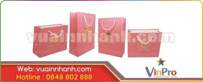 In túi giấy giá rẻ cho shop
