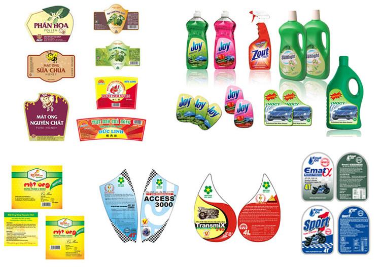 In decal cho nhãn hàng tiêu dùng