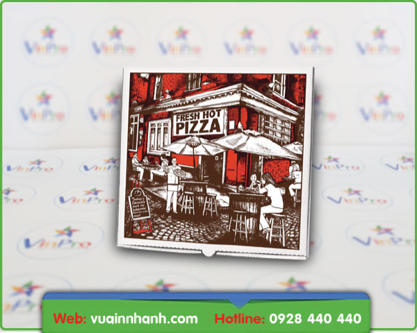 in nhanh hộp giấy đựng pizza