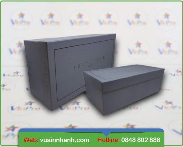 In hộp giấy đựng giày giá rẻ tại tphcm