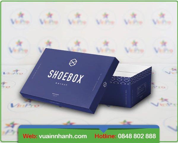 In hộp giấy đựng giày giá rẻ