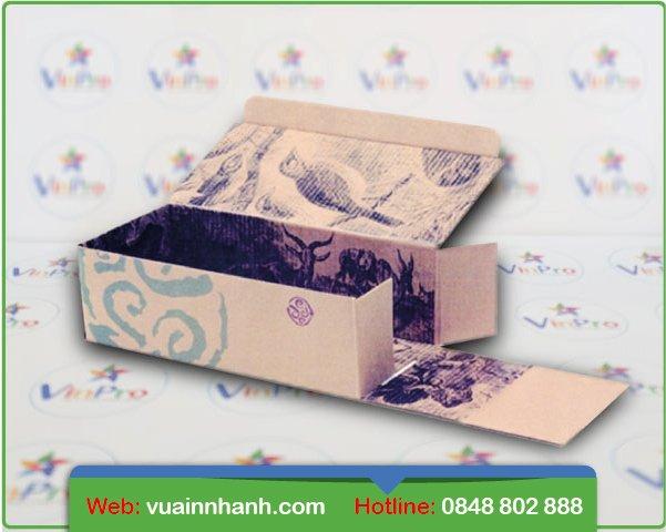 In hộp giấy đựng giày giá rẻ hcm