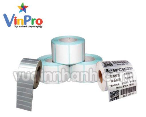 in nhãn decal giấy kim loại