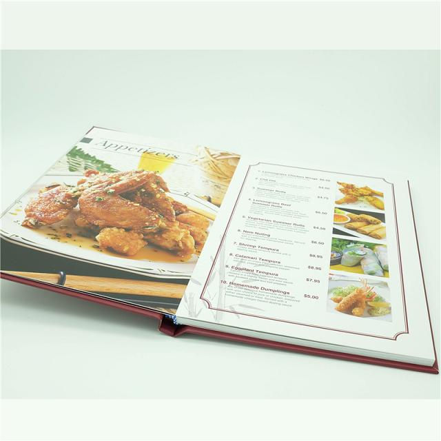 In menu bìa cứng giá rẻ