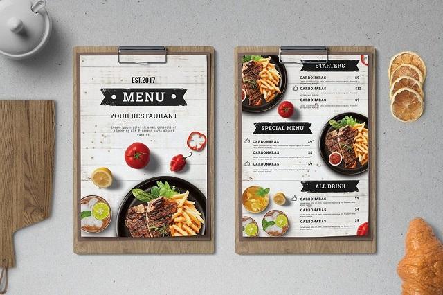 In menu nhà hàng giá rẻ