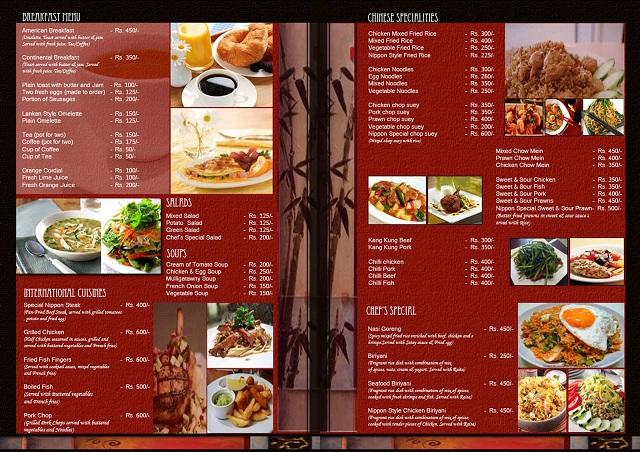 In menu quán nhậu đẹp