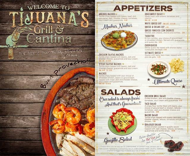 in nhanh menu nhà hàng giá rẻ