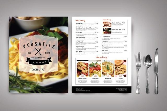 in nhanh menu nhà hàng hcm