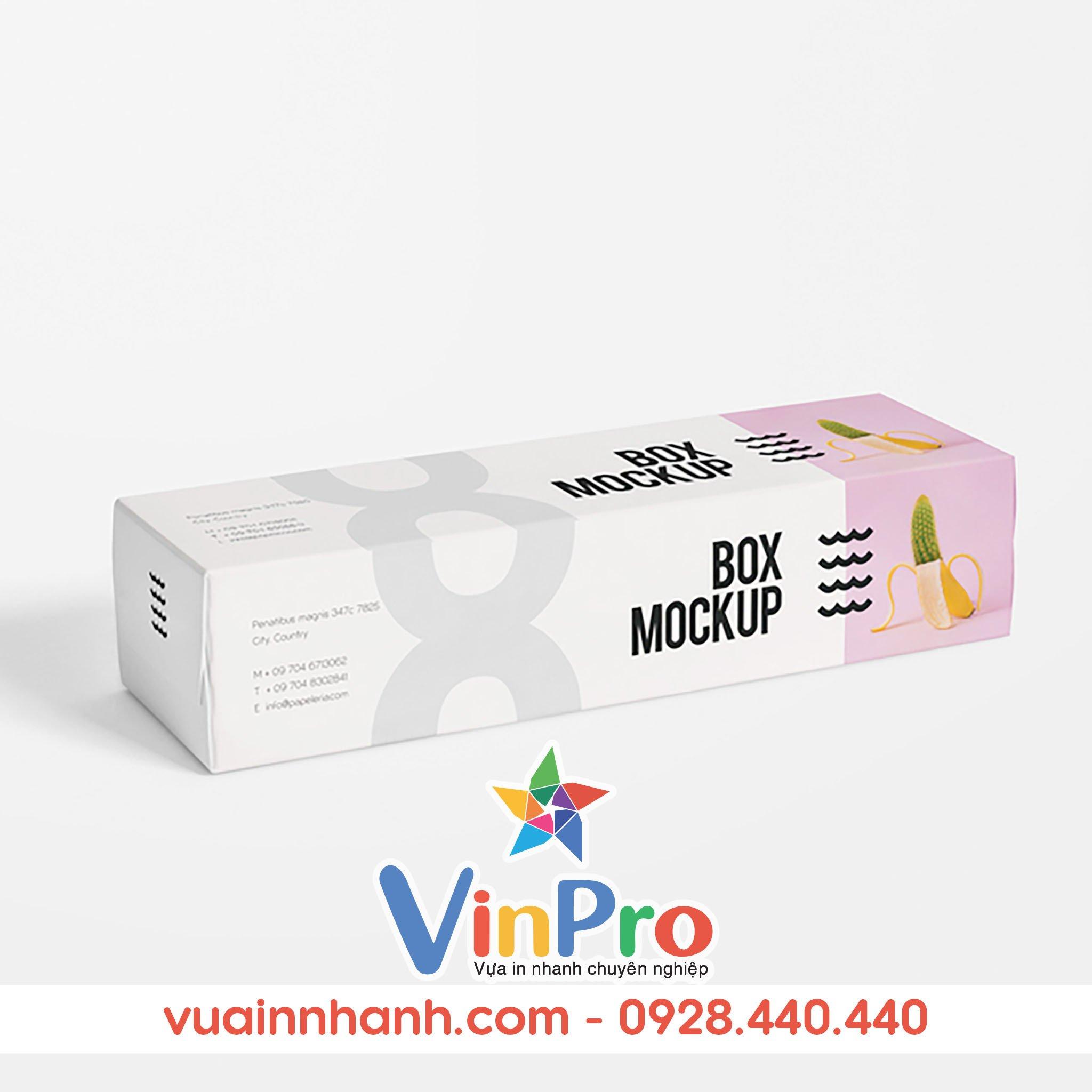 Mẫu bao bì hộp giấy đẹp tại VinPro