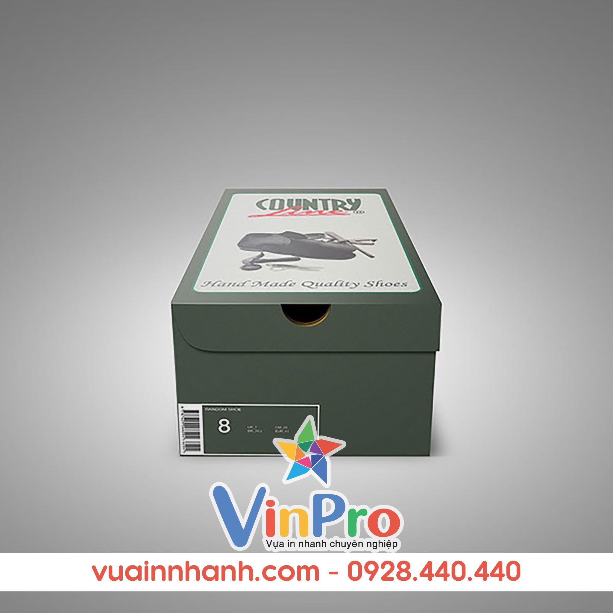 Mẫu hộp giấy đựng giày đẹp tại VinPro