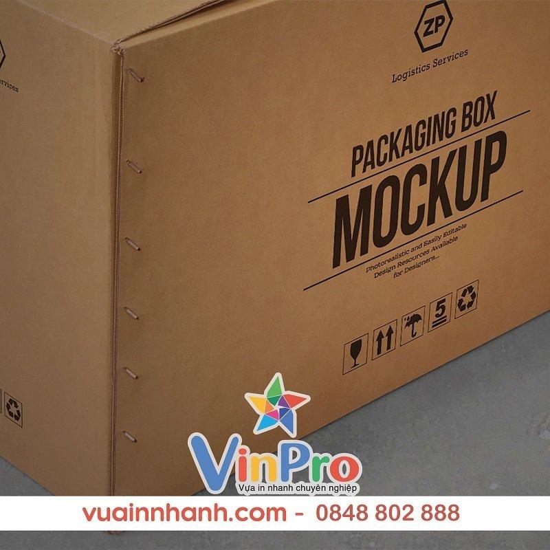 In thùng carton số lượng ít hcm