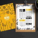 in menu quán cà phê chất lượng