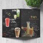 in menu quán cà phê tại tphcm