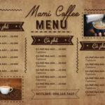 in menu quán cà phê hcm