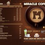 in menu quán cà phê đẹp
