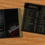in menu quán cafe