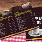 in menu quán cafe giá rẻ