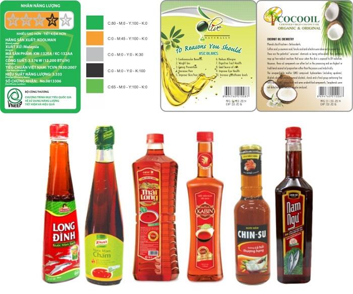nhãn dán sản phẩm chất lượng