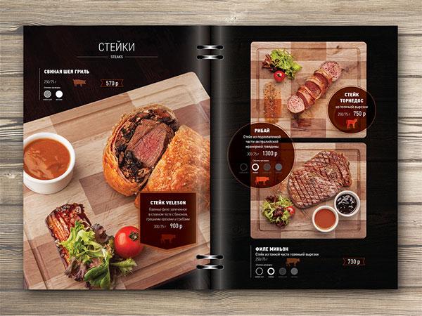 kích thước menu