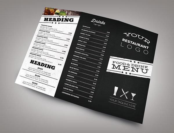 Kích thước menu chuẩn