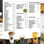 mẫu menu quán trà sữa giá rẻ
