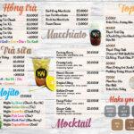 mẫu menu quán trà sữa chất lượng