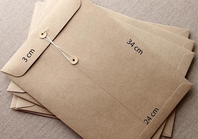 in phong bì giấy kraft