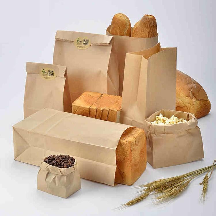 in túi kraft nâu bánh mì