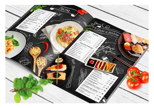 mẫu menu đẹp cho nhà hàng ấn tượng