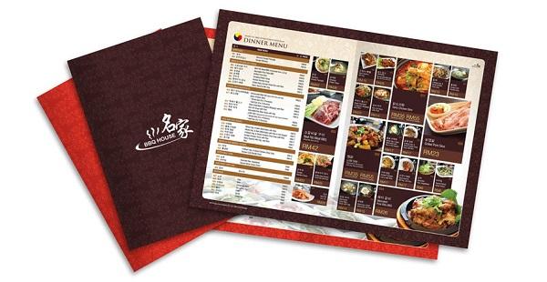 mẫu menu đẹp cho nhà hàng cao cấp