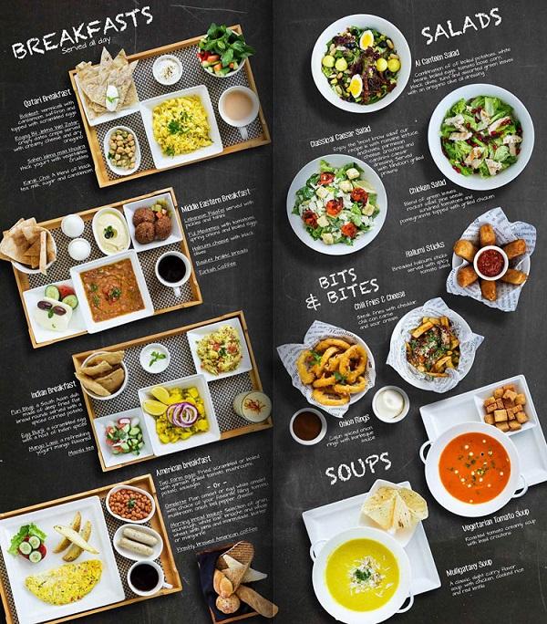mẫu menu đẹp cho nhà hàng chất lượng