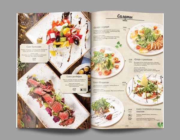 mẫu menu đẹp cho nhà hàng tinh tế
