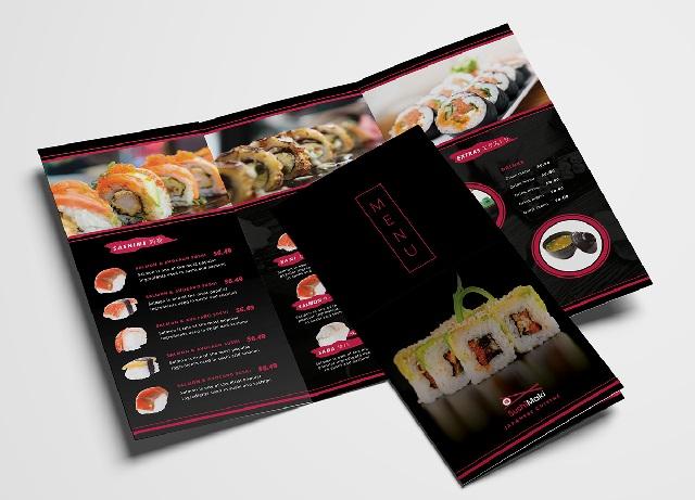 mẫu menu đẹp cho nhà hàng giá rẻ