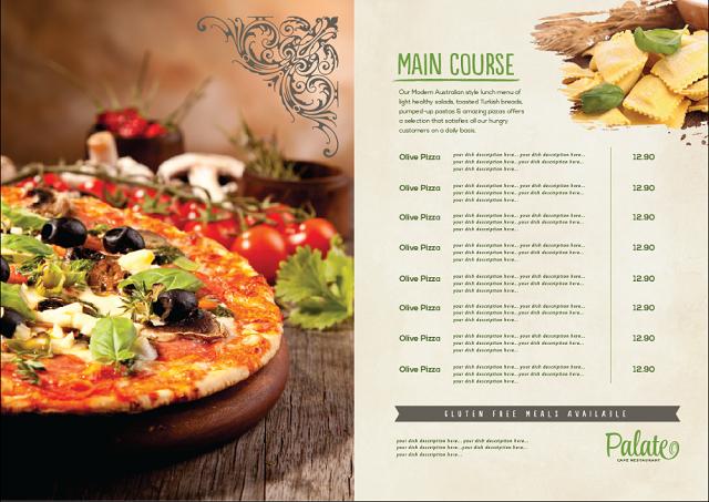 mẫu menu đẹp cho nhà hàng chất lượng cao