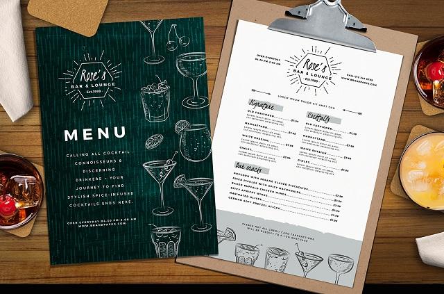 mẫu menu đẹp cho nhà hàng sang trọng