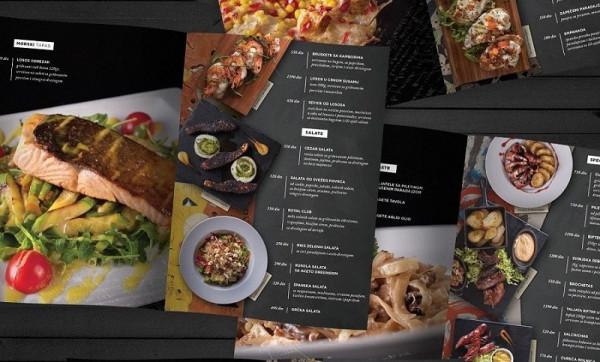 mẫu menu đẹp cho quán ăn tinh tế