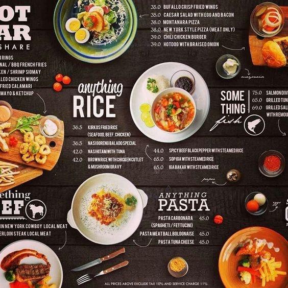 mẫu menu đẹp cho quán ăn chất lượng