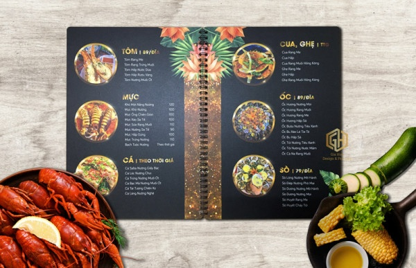 mẫu menu đẹp cho quán ăn lạ mắt