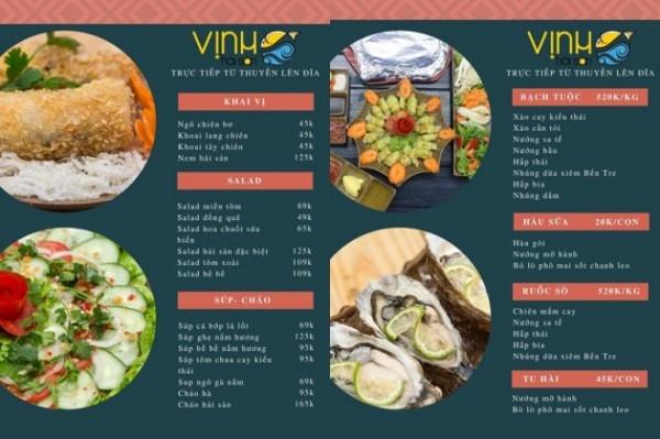 mẫu menu đẹp cho quán ăn đọc đáo