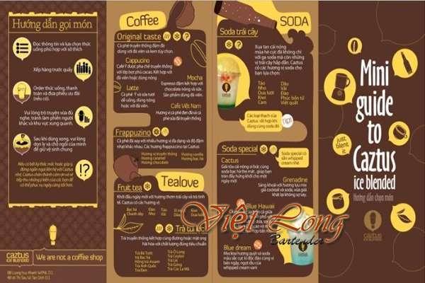 mẫu menu đẹp cho quán cà phê chất lượng