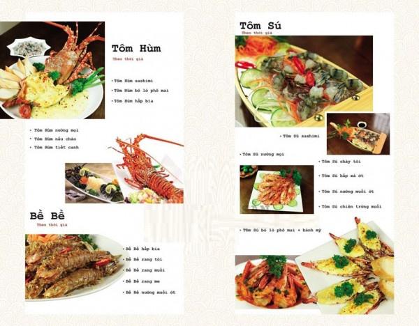 mẫu menu đẹp cho quán nhậu giá rẻ