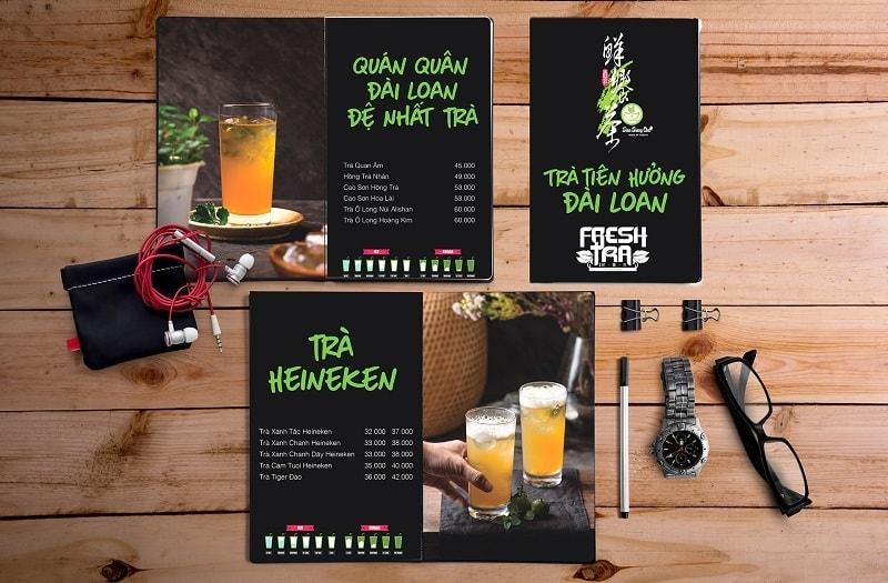 mẫu menu đẹp cho quán trà sữa tại tphcm