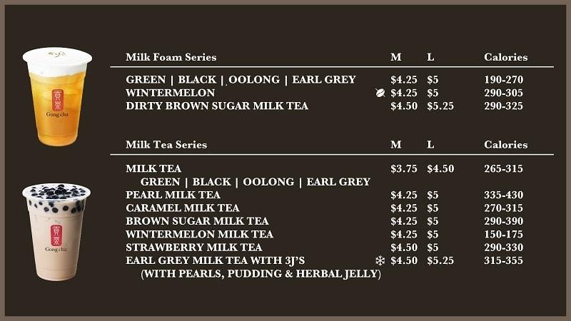 mẫu menu đẹp cho quán trà sữa