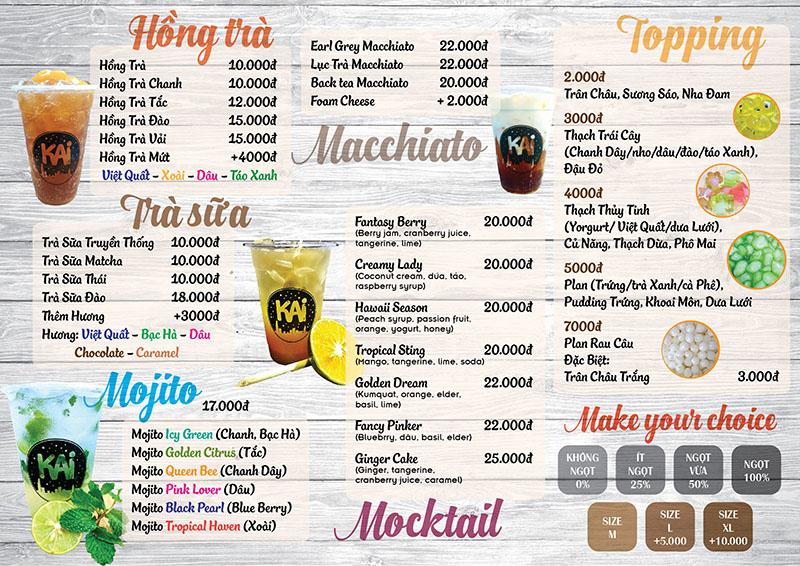 mẫu menu đẹp cho quán trà sữa hcm