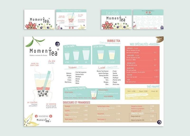mẫu menu đẹp cho quán trà sữa thu hút