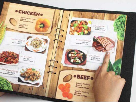 mẫu menu quán nhậu