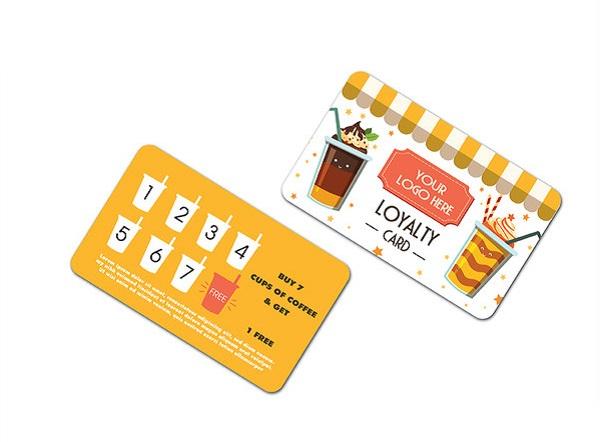 mẫu thẻ tích điểm